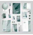 Corporate identity stationery print template vector image vector image