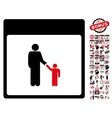 Father Calendar Page Flat Icon With Bonus vector image