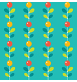 Seamless stylized berries pattern vector image vector image
