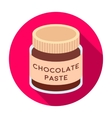 Chocolate paste icon in flat style isolated on vector image