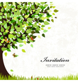 tree card vector image vector image