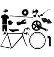 parts for bicycles vector image