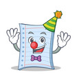 clown notebook character cartoon design vector image