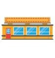 retro style local grocery market shop vector image