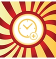 Add time abstract icon vector image