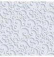 3d Floral Damask Seamless Pattern vector image vector image