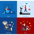 Gym Workout People vector image