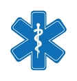 caduceus medical symbol isolated icon design vector image