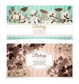 dry flowers horizontal banners vector image