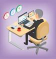 financier businessman trader analyst vector image