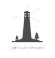 Lighthouse silhouette vector image