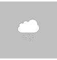 Rain Cloud computer symbol vector image