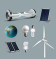 renewable energy set vector image