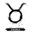 Taurus symbol vector image