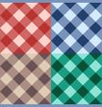 set checkered seamless diagonal background vector image
