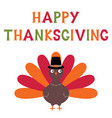 thanksgiving turkey card vector image vector image