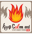 Fire safety sign vector image vector image