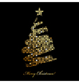 Merry Christmas card with christmas tree from vector image