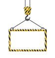 Industrial hook holding frame vector image vector image
