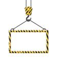 Industrial hook holding frame vector image