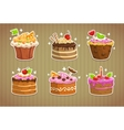 Sweet cake stickers vector image