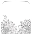 Vintage delicate invitation with flowers vector image