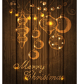 Christmas shining decorations vector image vector image
