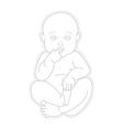 Adorable beautiful newborn baby looking up vector image