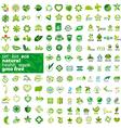 big set of logos ecology health natural vector image