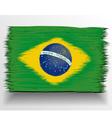 Brazil flag sketch vector image
