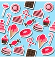 Confectionery flat collage vector image