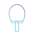 line racket object to practice tennis vector image