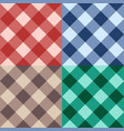set checkered seamless diagonal background vector image