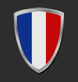Shield with flag of france vector image