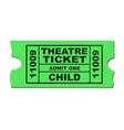 theatre ticket child vector image