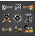 Tires Shop Logo vector image