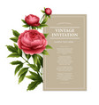 Vintage floral card Used as a greeting vector image