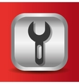 wrench tool icon button design vector image