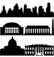 Architecture of Washington vector image vector image