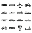 Transportation icons set simple style vector image