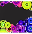 Abstract colorful rings background vector image vector image