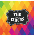Circus themed poster template vector image