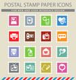 love messages icon set vector image