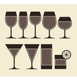 Alcohol Wine Beer Cocktail and vector image