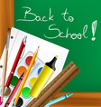Back to school frame with tools vector image vector image