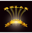 relax ribbon vector image vector image