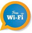 Wifi speech bubble Free wifi symbol Wifi zone vector image