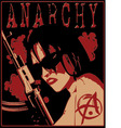 girl anarchy vector image