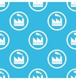 Factory sign blue pattern vector image