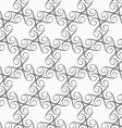 Monochrome spirals forming circles vector image